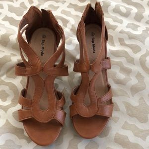 Shoes - Faux Leather Wedges